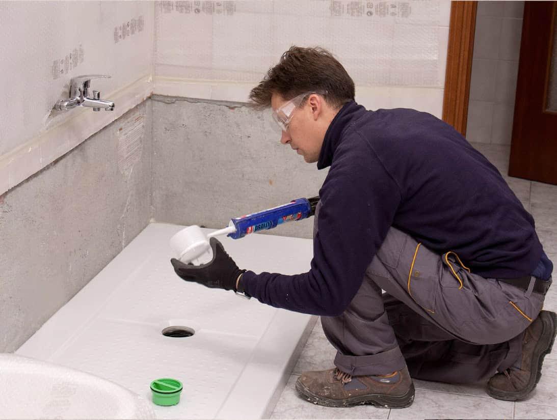 Collegamento del nuovo scarico al piatto doccia